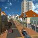 Obchodní zóna Komenského ve Vlašimi- uliční prostor
